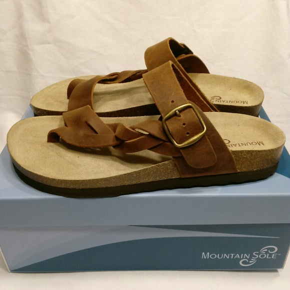 3f86ad1597a4 Mountain Sole Hollie  Size 9  Brown Leather  NEW